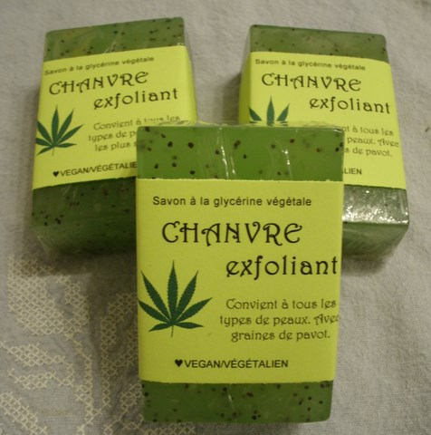 Savon chanvre-exfoliant-vegan